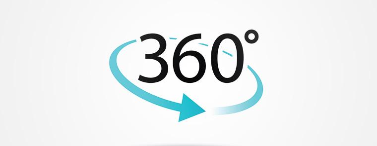 360°-Blick oftmals in weiter Ferne
