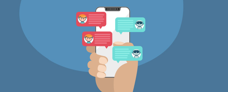 Kunden freuen sich über Chatbots