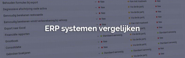 ERP systemen vergelijken