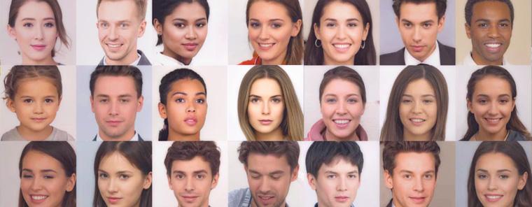 KI generiert Gesichter