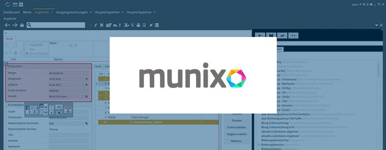 Munixo Customizing - Ohne Coding